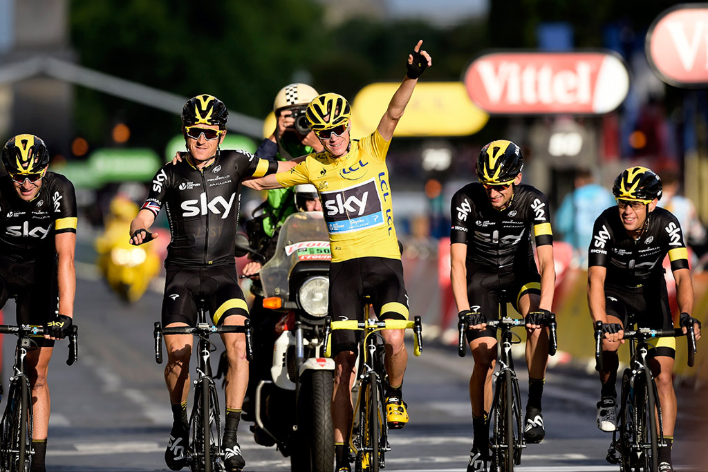 Chris Froome, Team Sky and Pinarello: Tour d' France winners