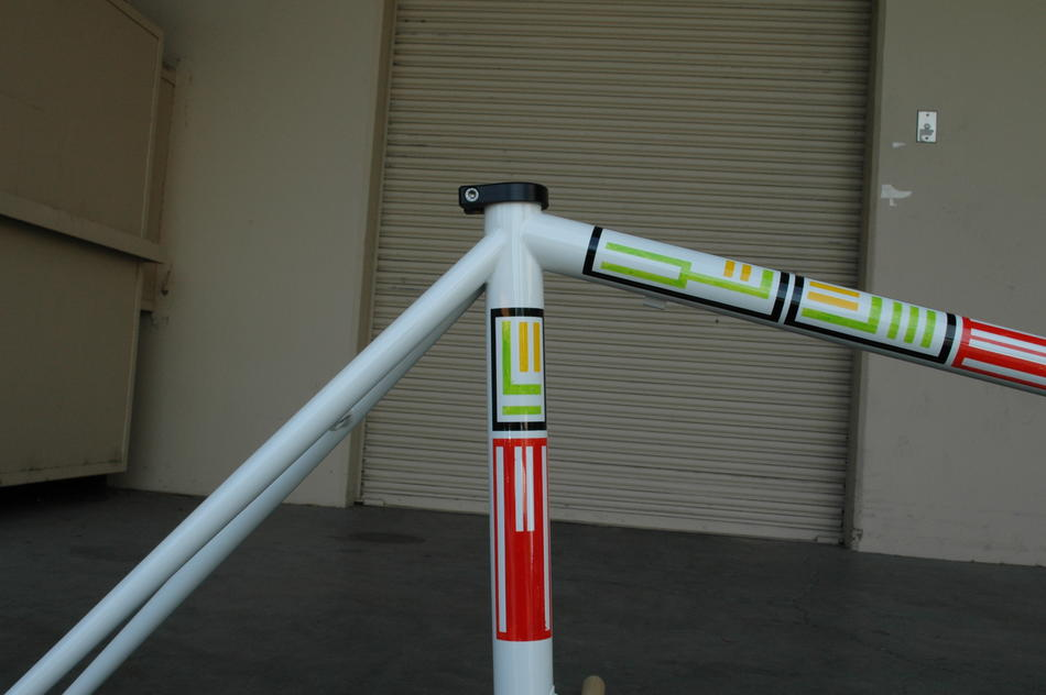 Seat collar 52cm Duende in Somebody paint scheme. In stock at Lakeside Bicycles