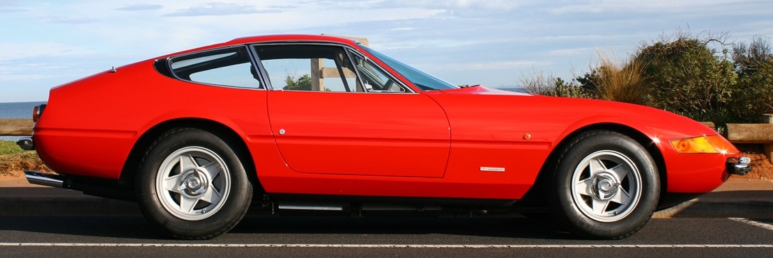 Ferrari 365 GTB4 Daytona showing Kamm tail.