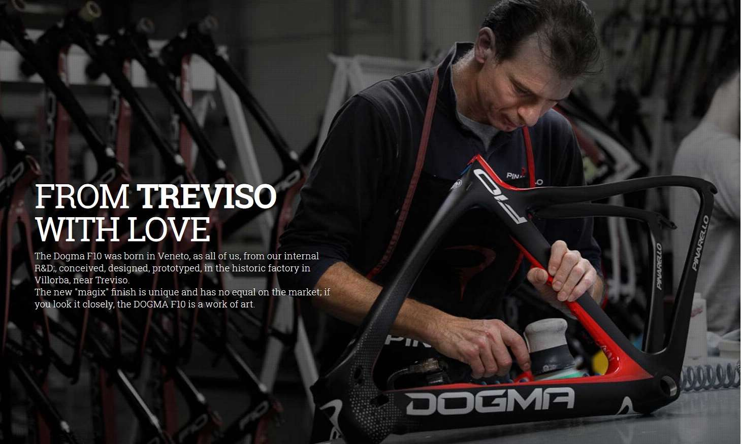 Pinarello Dogma F10: Assembled by Italian Artisans in Treviso