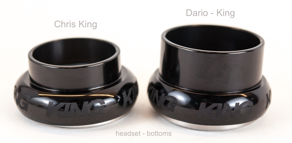 The new Chris King D11 headset designed in cooperation with Dario Pegoretti and available at Lakeside Bicycles.