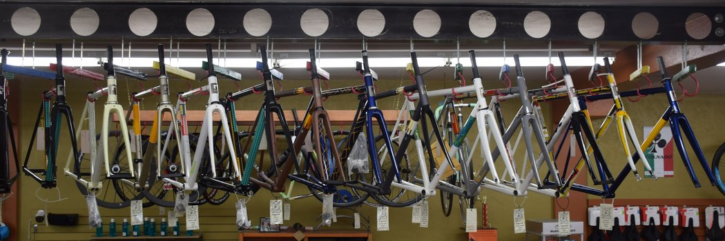 Lakeside Bicycles inventory of Pegoretti frames as of October 2017