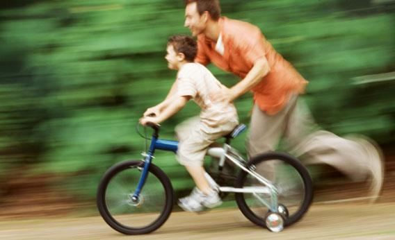 Learning to ride a bike with a little help from Lakeside Bicycles