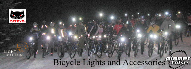 Lakeside Bicycles features Cateye and Light & Motion lights and accessories.