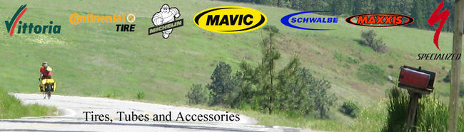 Vittoria, Continental, Michelin, Mavic, Schwalbe, Maxis and Specialized tubes and tires at lakeside bicycles