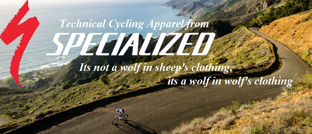 Specialized cycling clothing catalog at Lakeside Bicycles - Lakeside