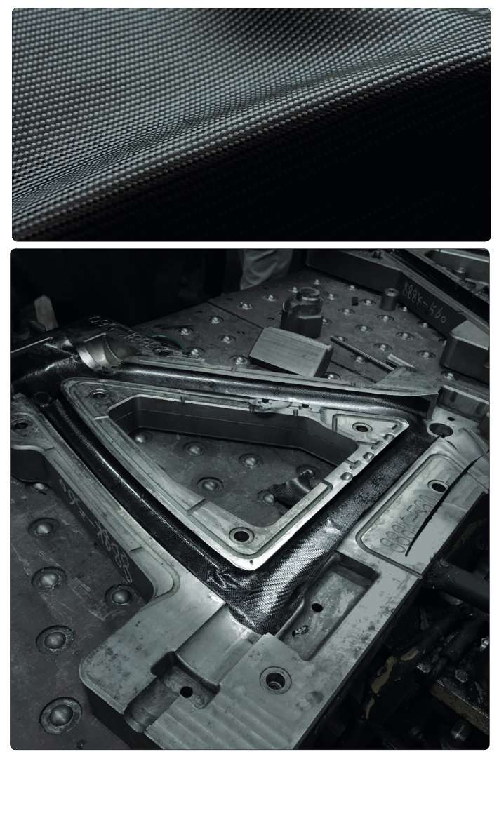 Torayca 1100K Carbon Fibre and molds used in manufacture of the Pinarello F10