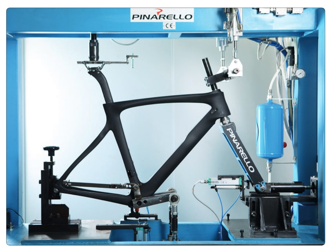 With rapid deployment of prototypes Pinarello is able to engage in more extensive testing during the design of the Dogma F10