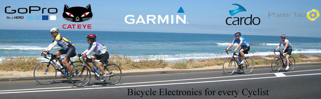 Electronics from Cardo, Cateye, Cyclops, Garmin, GoPro and more available at Lakeside Bicycles