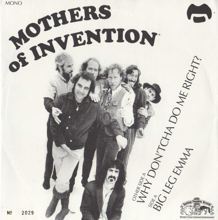 Mothers of Invention Big Leg Emma album cover.