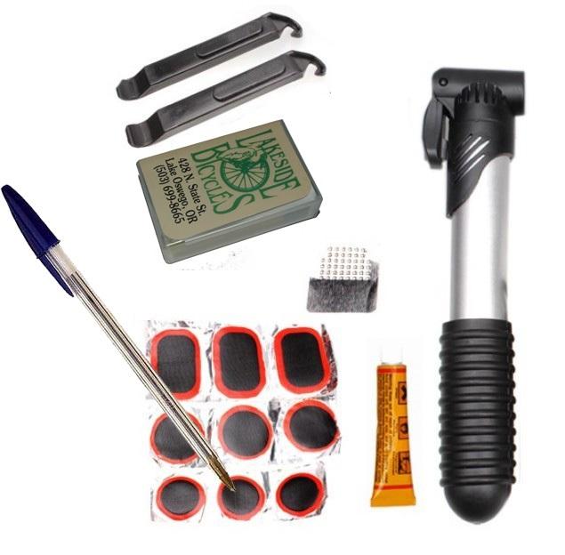 Bicycle tube repair kit.