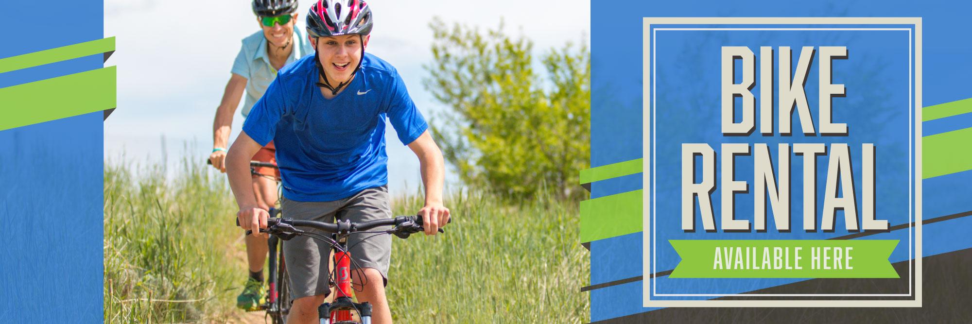Hyland Family Bikes rents bikes!