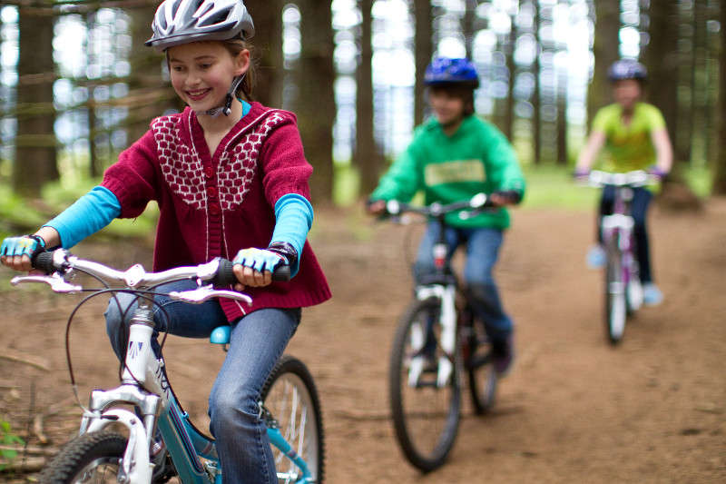 Kids Riding on Path