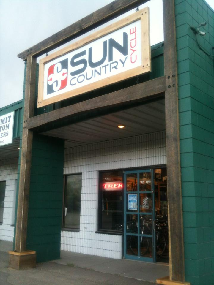 Sun Country Cycle's Store Front in Vernon, BC