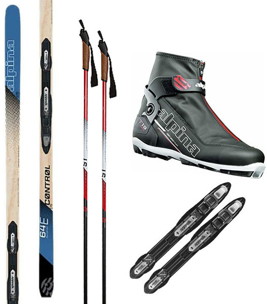 Alpina Out the Back Door & In-Track Metal Edge Cross Country Ski Package