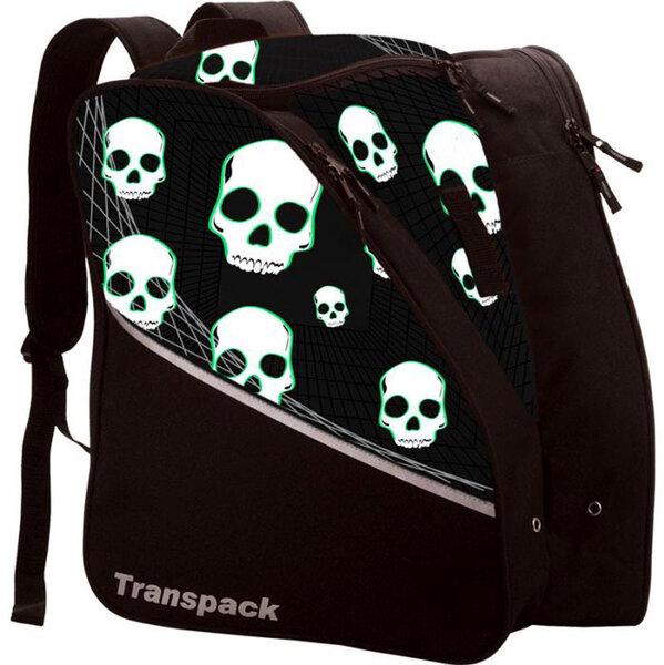 Transpack Kids' Edge Jr. Boot Bag - Black w/ Green Skulls