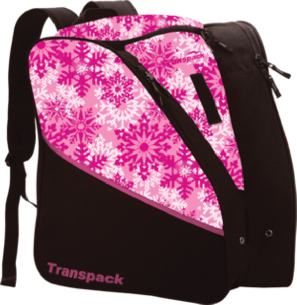 Transpack Kids' Edge Jr. Boot Bag - Pink Snowflake