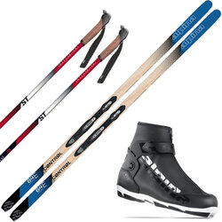 Gorham Bike & Ski Out the Back Door & In-Track Metal Edge Cross Country Ski Package