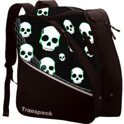 Transpack Kids' Edge Jr. Boot Bag - Black w/ Green Skulls