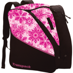 Transpack Kids' Edge Jr. Boot Bag - Pink Snowflake