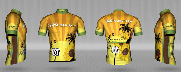 Bicycle Bob's Santa Barbara Sunburst Women's Jersey