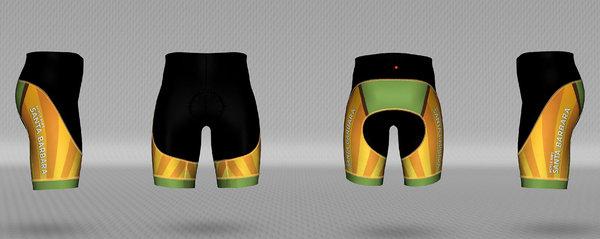 Bicycle Bob's Santa Barbara Sunburst Women's Shorts