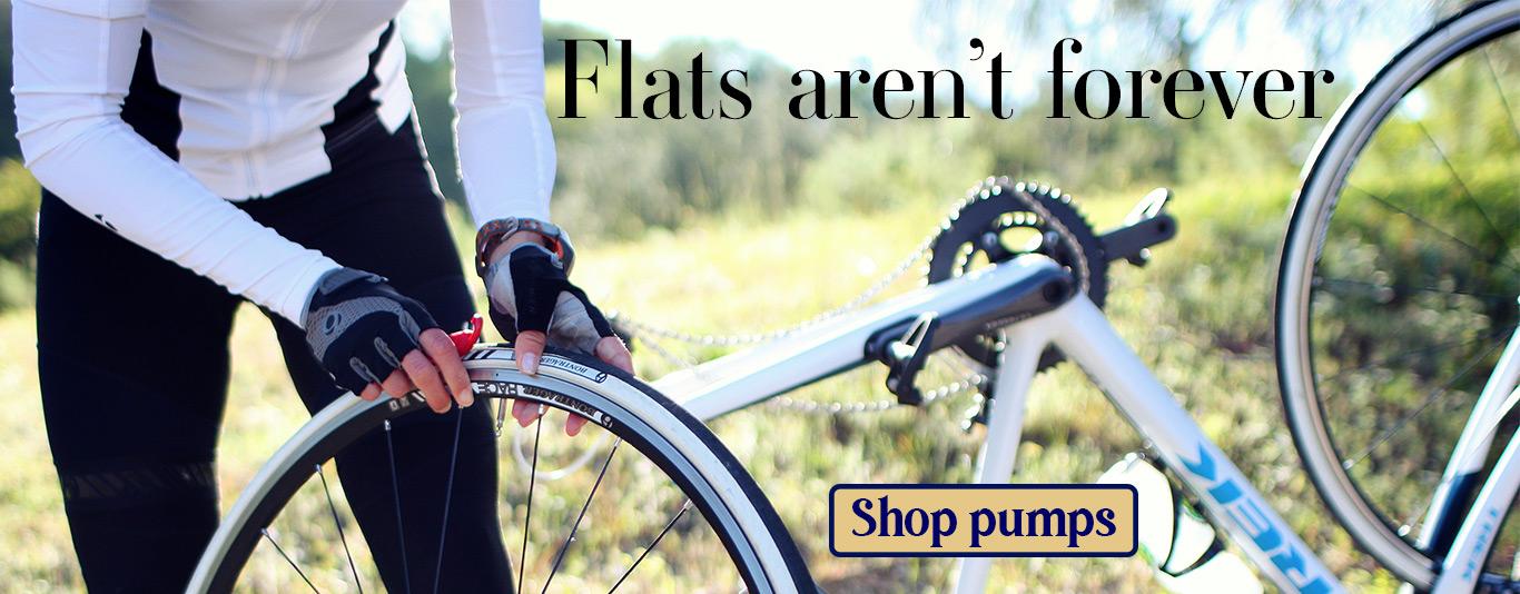 Flats aren't forever, link to pumps on webstore