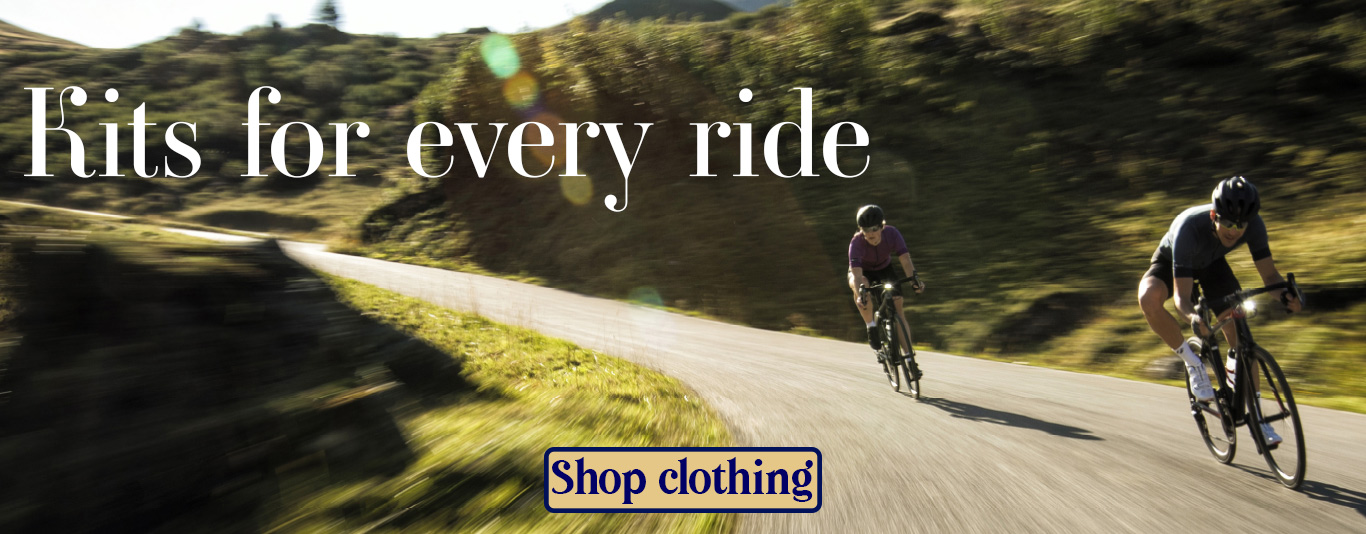 Kits for every ride, link to clothing on webstore