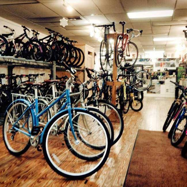 Dr. J's Bicycle Shop Interior