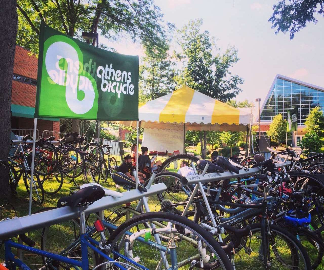 Athens Bicycle bike parking at Nelsonville Music Festival