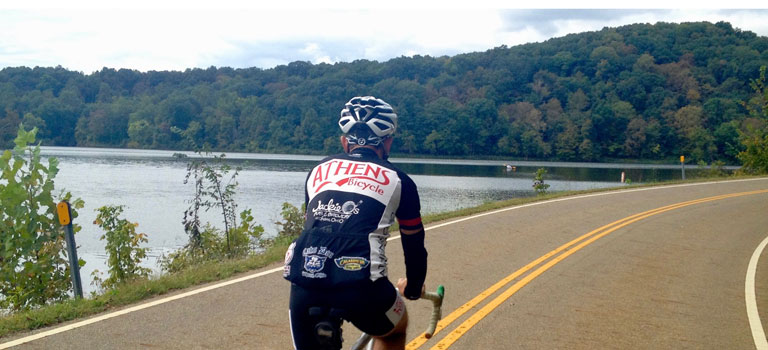 Road Riding in Athens, Ohio