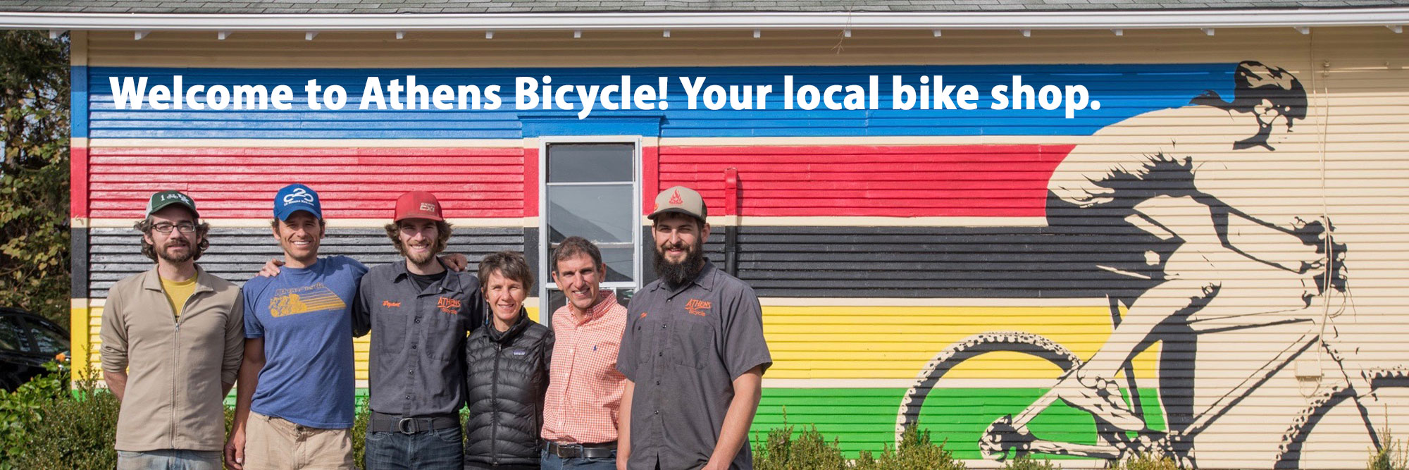 Athens Bicycle staff, Athens, Ohio