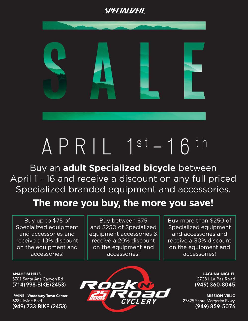 Spring Sale Rock N Road Cyclery Orange County California