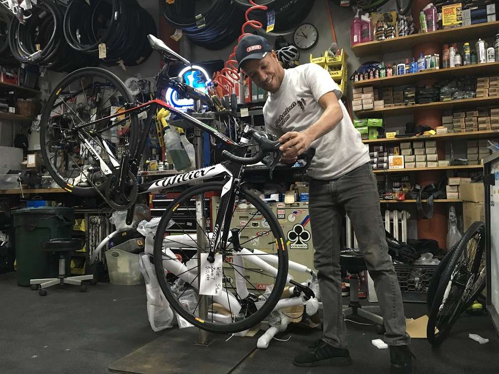 Full service bicycle repair at Echelon Cycles