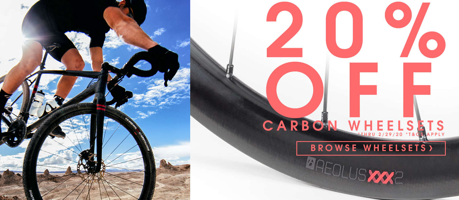 20% off carbon wheelsets