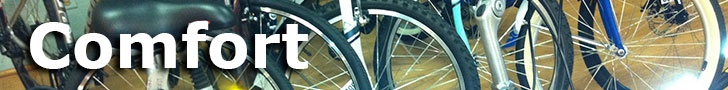 Ride in comfort on a Comfort bike from Trek Stop Bicycles!