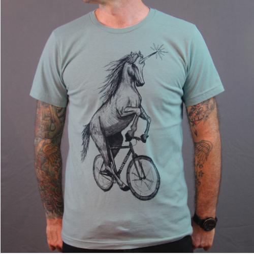 Dark Cycle Clothing Unicorn on a Bike