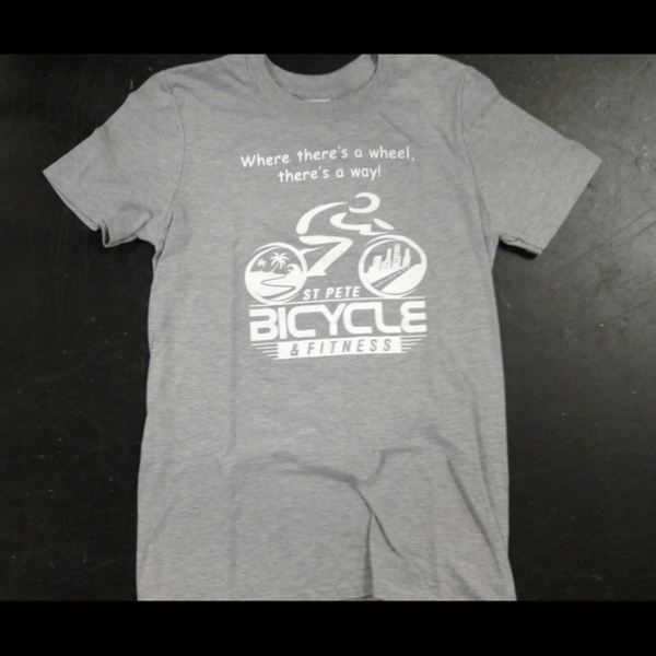 St Pete Bicycle & Fitness 'Where there's a wheel, there's a way!' T-Shirt