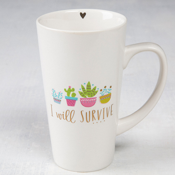 "Natural Life ""I Will Survive' Latte Mug"