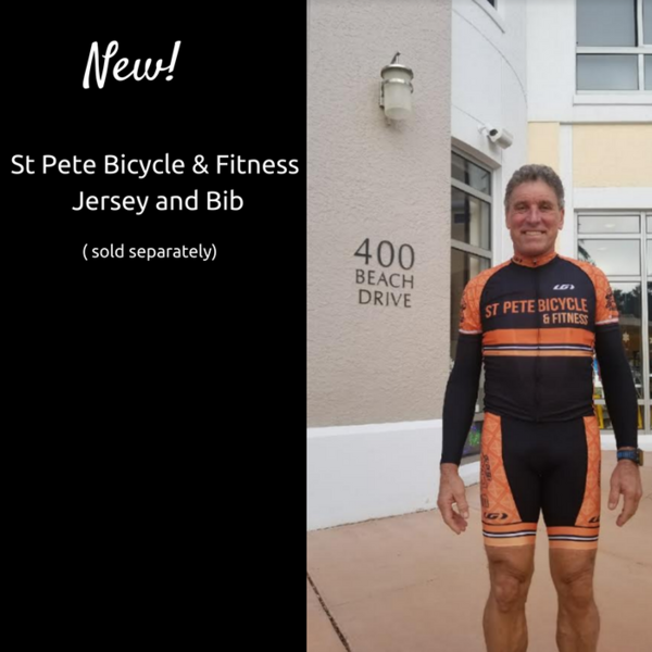 St Pete Bicycle & Fitness Orange Power Bib