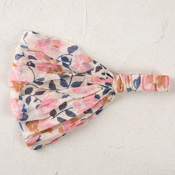 Natural Life Pink Cream Handkerchief Headband