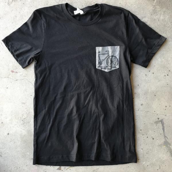 Dark Cycle Clothing Bike Lightning Pocket T-Shirt
