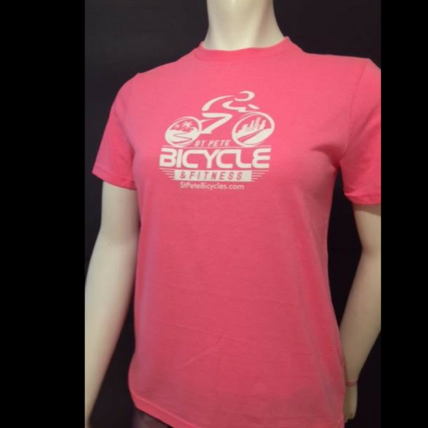 St Pete Bicycle & Fitness Limited Edition 2016 Shirt Ladies Pink