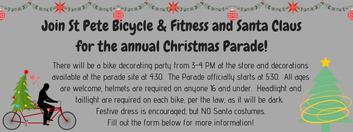 St Pete Bicycle & Fitness and Santa Parade