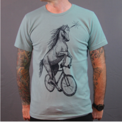 Dark Cycle Clothing Unicorn on a Bike