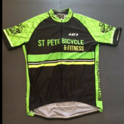 St Pete Bicycle & Fitness Men's Equipe Pro Jersey Green St. Pete