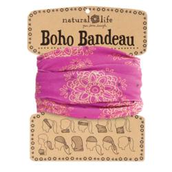 Natural Life Boho Bandeau Magenta w/ Gold Mandala