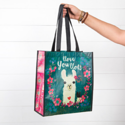 Natural Life Llove You Llots Llama Large Recycled Gift Bag