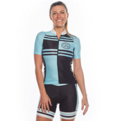 Coeur Women's Cycling Jersey In Blue Steel