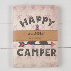 Natural Life Happy Camper Set of 2 Journals